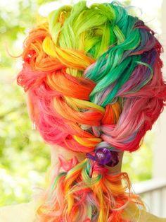 colorful hair..