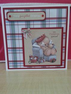 Forever Friends Christmas Kraft Notes Homemade Birthday Cards, Homemade Christmas Cards, Christmas Cards To Make, Xmas Cards, Christmas Crafts, Tatty Teddy, Teddy Bear, Forever Friends Cards, Digital Designer