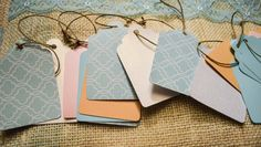 Set of 50 Paper Tags for Wedding Wishing Tree. Assorted Colors, Or Made to Order. Rustic, Shabby Chic.