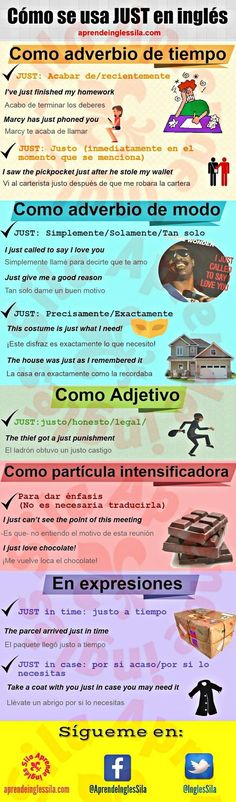 Cómo usar Just Better English, English Time, English Course, Spanish English, English Study, English Class, English Lessons, Spanish Vocabulary, Spanish Grammar
