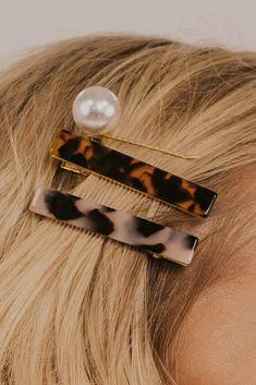 Clip Hairstyles, Trendy Hairstyles, Tortoise Hair, Hair Game, Hair Strand, Pearl Hair, Hair Barrettes, Headbands, Hair Accessories For Women