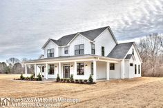 Farmhouse Plan comes to life in Mississippi - photo 002 Modern Farmhouse Exterior, Farmhouse Style, Farmhouse Addition, Mississippi, Future House, My House, Dream House Exterior, Exterior Homes, House Layouts