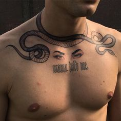 necklace snake tattoo design