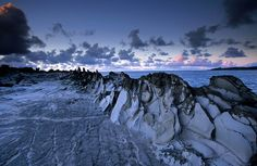 The Dragon's Teeth are bizarre lava formations eroded by wind and salt spray at Makalua-puna Point, Hawaii #monogramsvacation