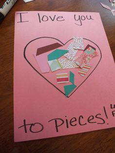 Smothered & Covered - I Love you to Pieces Valentines Day Toddler craft