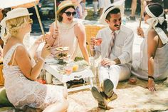 1920s inspired street #style from the Jazz Age Lawn Party // See more: (http://ny.racked.com/2015/6/16/8786627/jazz-age-lawn-party-2015-photos#?utm_medium=social&utm_source=pinterest&utm_campaign=racked)