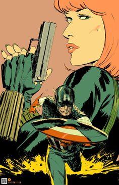 Captain America and Black Widow by Mitch Breitweiser *