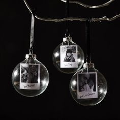 Polaroid Glass Personalised Christmas Bauble by SophiaVictoriaJoy on Etsy https://www.etsy.com/uk/listing/194909391/polaroid-glass-personalised-christmas