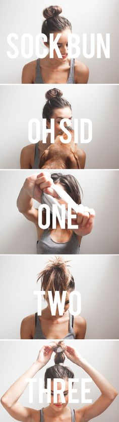 Sock Bun Two Minutes // Two Styles — Treasures & Travels Up Hairstyles, Pretty Hairstyles, Braided Hairstyles, Hair A, Diy Hair, Blond, Good Hair Day, Hair Hacks, Hair Goals