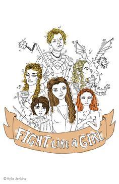 Fight Like A Girl on Behance