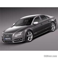 Audi S8 2014 - 3D Model