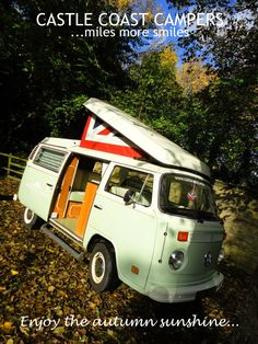 Escape on #holiday with family, friends and loved ones; wrap up and get outdoors for some fun in the crisp #autumn air; go for a walk through the warm reds, golden yellows and rusts of nature, hunt for conkers, kick up some leaves, have #fun together! One #Campervan left for a short break during #HalfTerm! Hurry and book! hello@castlecoastcampers.co.uk
