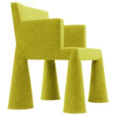sedia Giallo in Tessuto da ufficio V.I.P. Chair - Moooi