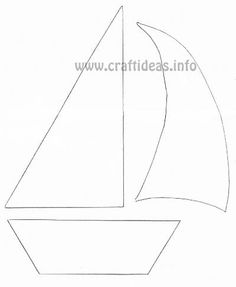 See 5 Best Images of Free Printable Sailboat Stencils. Sailboat Cut Out Pattern Sailboat Stencil Template Free Anchor Stencil Printable Sailboat Stencil Template Sailboat Craft Pattern Applique Templates, Applique Patterns, Applique Designs, Felt Patterns, Craft Patterns, Sewing Patterns, Sailboat Craft, Deco Marine, Sewing Appliques