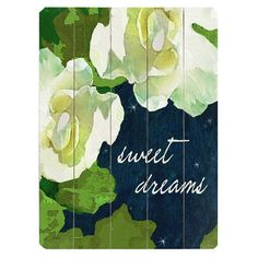 Bring natural appeal to your decor with this chic plank-style wall decor, showcasing starlit florals with a charming script message.    P...