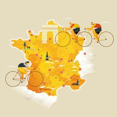 Breaking Out Of The Box: Design Inspiration (July – Smashing Magazine Bicycle Illustration, City Illustration, Digital Illustration, Illustration Styles, City Icon, Behance, Map Design, Blog, Design Inspiration