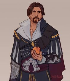' _ After checking all playable assassins, I still think I love Ezio's robes the most. Master and Mentor of Fashion. Assassin's Creed Brotherhood, Character Concept, Character Art, Character Design, Assassin's Creed Embers, Assessin Creed, Infamous Second Son, Assassins Creed Series, Cartoon Games