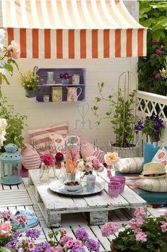 Terrasse fleurie  palette