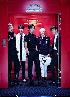 """BTS """"DOPE"""" MV concept teaser photos Rap Mon, Jin, Jungkook, Suga and J Hope. Can't wait for Jimin and V. Ugh."""