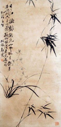 Чжэн Се 鄭燮 (1693–1765), также известен как Чжэн Баньцяо 鄭板橋