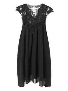 GET $50 NOW | Join RoseGal: Get YOUR $50 NOW!http://www.rosegal.com/plus-size-dresses/plus-size-lace-spliced-hollow-694837.html?seid=5635113rg694837