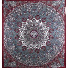 Hippie Indian Wall Tapestry Star Mandala Psychedelic Tapestries Throw Bedspread