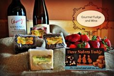 Gift baskets for your luxury rental here in the Blue Ridge, GA mountains! Luxury Concierge Services, Blue Ridge Cabin Rentals, Wine Baskets, Three Sisters, Wine Parties, Queen, Root Beer, Fudge, Georgia
