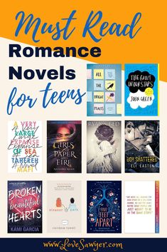 10 young adult romance novels you can feel good about giving to your young teen. No blushing necessary! These romance novels are great for teenage readers. Wonderful books to read if you're for t Romantic Books For Teens, Best Romantic Books, Teen Romance Books, Best Romance Novels, Paranormal Romance, Teenage Books To Read, Books To Read In Your Teens, Books For Tweens, Best Love Books