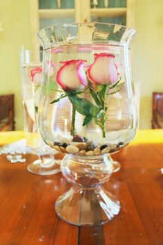 Submerge your flowers in water. They look gorgeous. What a clever idea! Miss Kopy Kat
