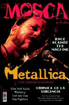 La Mosca No 9, con James Hetfield de Metallica en la carátula. Agosto de 1996.