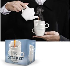 Atunci iti recomand aceasta cana de cafea (sau ceai), pentru o portie  tripla. Ai putea avea impresia ca sunt trei cesti una peste ... 2211872cb902