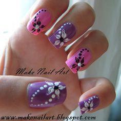 Nail Art Bello y fácil Nail Art con flores