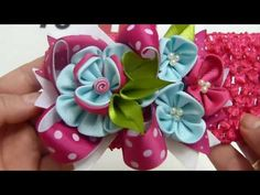 Diy Balacas con flores y moños Boutique - YouTube