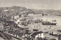 Antique print gravure Ancona Marche Italia Italy 1878 / stampa antica