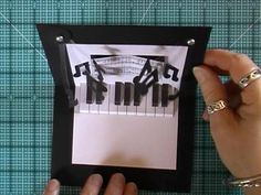 This adorable pop up piano card is something that can be done (by YOU!) with a bit of concentration and focus. All you need to do is watch this video: http://www.youtube.com/watch?v=EBT19UuZ4o8=player_embedded#t=135s. Then go to the website that I got this idea from, and print out the template for the graphics. You'll have a pop up piano in no time!