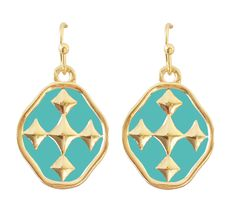 Gracewear Collection - Colors Earrings Turquoise/Gold, $28.00 (http://gracewearcollection.com/colors-earrings-turquoise-gold/)