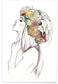 Flowered VON Ina Stanimirova now on JUNIQE!