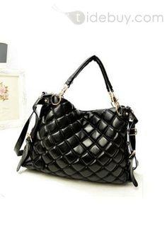 Zipper, Bags , $21.79, Fancy Hot Selling Zipper Rhombic Print Down HandbagHandbagOne-shoulder Bag