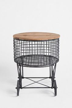 Rolling Market Basket Table from Urban Outfitters