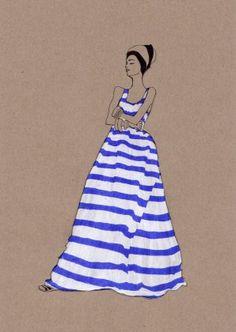 stripes dress by daphne van den heuvel