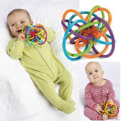 Mainan bayi Fun Sedikit Keras Bel Bola Bayi bola mainan Mengembangkan Kecerdasan Bayi Bayi Menggenggam mainan kerincingan mainan Plastik Tangan Bell Rattle