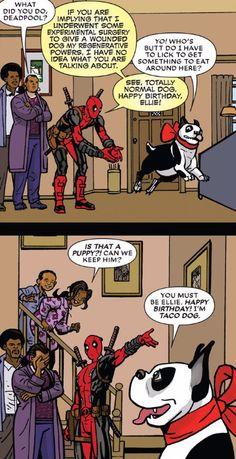 Fuck Yes Deadpool Marvel Jokes, Marvel Funny, Marvel Dc Comics, Marvel Heroes, Funny Comics, Marvel Avengers, Deadpool Comics, Deadpool And Spiderman, Batman