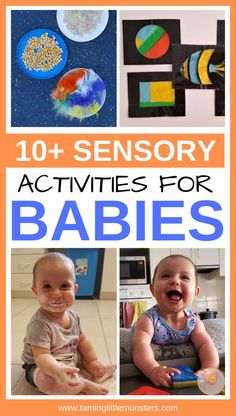 Check out these 10 Sensory activities for babies. There are DIY sensory toys, taste safe sensory bins and more ideas for your baby to enjoy. Make tummy time fun with these easy sensory play ideas that can be used for babies from 3 months and up. Baby Sensory Ideas 3 Months, Diy Sensory Toys For Babies, Baby Sensory Board, Infant Sensory Activities, Baby Sensory Play, Sensory Bags, Baby Play, Fun Activities, Diy Baby Toys 10 Months
