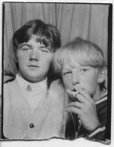 Smoking in a photobooth
