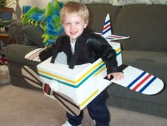 Get ready for take off. What used to be an ordinary box is now a cute airplane costume for your favorite little pilot.