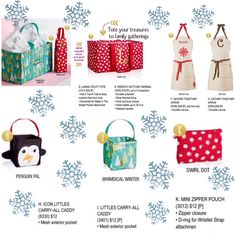 Thirty-one's Holiday Exclusives --Coming October 1st 2015 Thirty-One Gifts