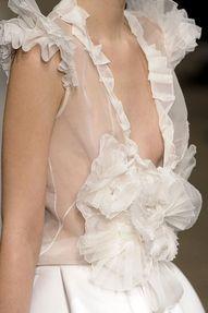 ruffles, sheer fabric