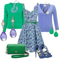 """Periwinkle and Jade"" by tara-nitti on Polyvore"