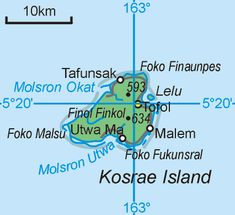 Kosrae (pronunciation: /koʊˈʃaɪ/ koh-shrye), formerly known as Kusaie, is an island in Federated States of Micronesia. Capital: Tofol