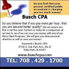 Do You Feel That Your Present Certified Public Accountant is Charging you too Much Money?